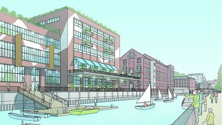 How the Carrow Works site could look after redevelopment.