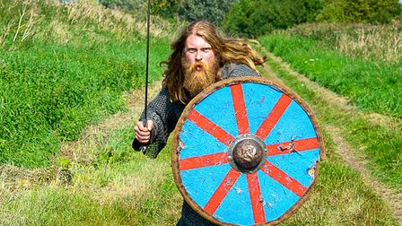 Rory Gibson plays Hereward the Wake in Aldreth