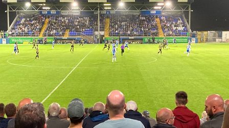The scene at Hulver Street last week as Colchester United, with eight former Ipswich Town players, faced Barrow
