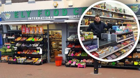 Ely Food Centre, ran by Guzel Miroslavov (pictured) is just a three-minute walk from Ely Cathedral