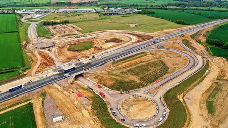 Work to build a new A1 junction at Grantham.