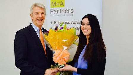 Georgina Lemmon receiving her award for her Corporate Reporting (P2) ACCA (Association of Chartered