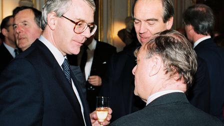 Lunch at Palais Rohan with former PM John Major and Sir Jack Stewart-Clark