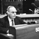 Amédée Turner during a session in the hemicycle atStrasbourg in November 1988