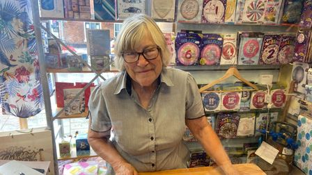 Carol Weston, 72, lives in Lyng and works at Evie's of Dereham