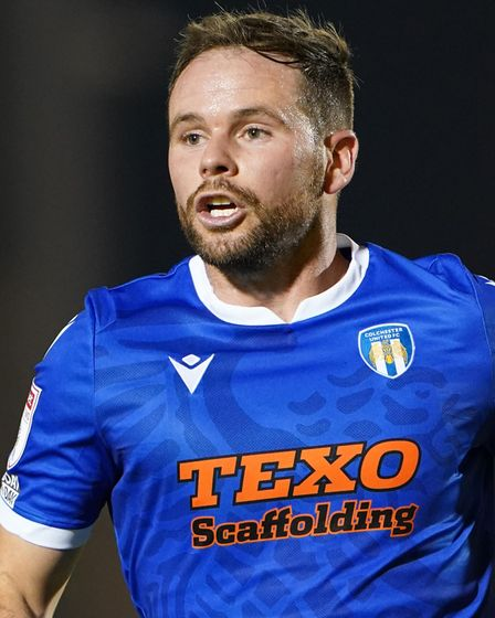 Colchester United's Alan Judge during the Papa John's Trophy match at the JobServe Community Stadium