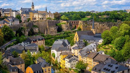 Luxembourg city, the capital of Grand Duchy of Luxembourg, view of the Old Town and Grund