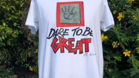 Maurice Ware's design on the fundraising T-shirt