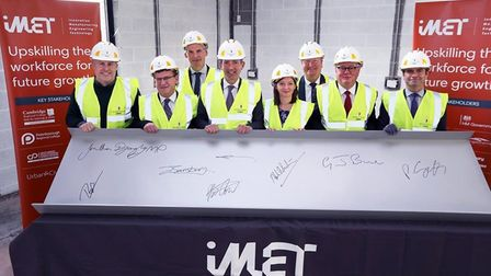 Topping out ceremony for iMET