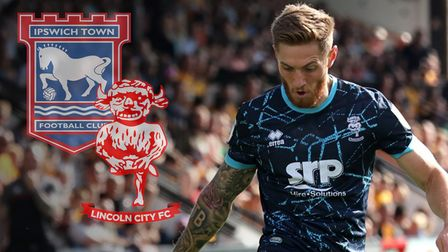Teddy Bishop will be part of the Lincoln side facing Ipswich Town this weekend