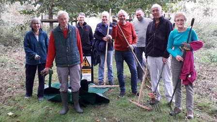 Volunteers with the Thetford Conservation Group