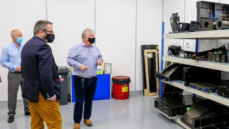 Combined Authority visit Aerotron Composites in Chatteris