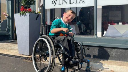 Logan Gostling, from Mattishall, outside The Rose of India in Attleborough
