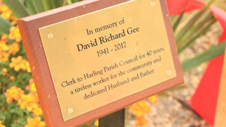 The East Harling community garden was opened in memory of David Richard Gee.