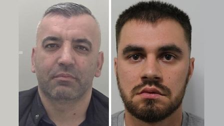 Oliver Mark (left) and Alexander Georgiev... guilty on firearms charges