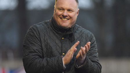 Gary Setchell is in a positive mood about the Linnets chances. Picture: Ian Burt