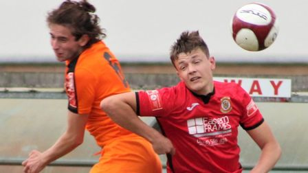 Toby Allen in action for Wisbech Town