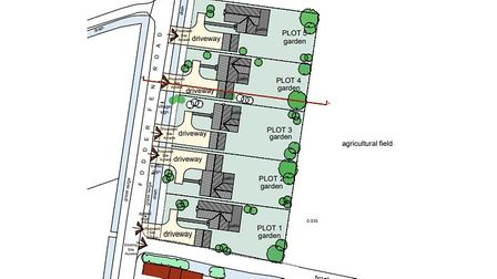Proposals for five luxury homes in Manea which planners are recommending for refusal