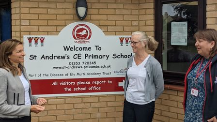 MP Lucy Frazer on a visit to St Andrew's CE Primary School, Soham.