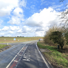 It has been reported that the A1071 is partially blocked after a crash