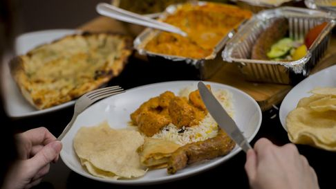 Indian food on a table.