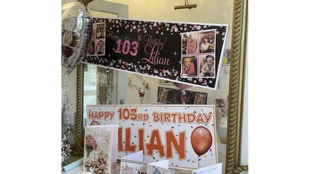 Lilian Taylor celebrated her 103rd birthday at The Hermitage care home in Whittlesey on Sunday.