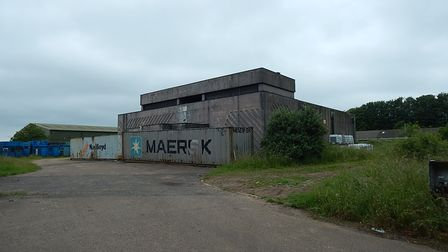 Huge concrete walled blast proof bunker on abandoned former airbase at RAF Watton