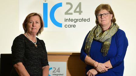 Left, Judy Oliver, chairman of IC24, and Yvonne Taylor, chief executive of IC24. Picture: ANTONY KEL