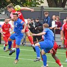 Barking in FA Cup action against AFC Dunstable at Mayesbrook Park