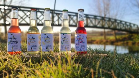 Drinks from Crafty River Brewing