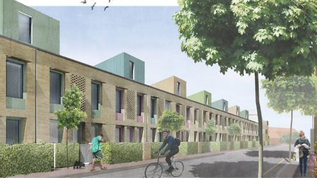 An artist's impression of the £13m housing development which could be built on the former Greyhound