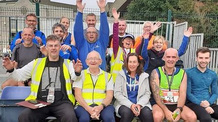 March AC runners after Round Norfolk Relay 2021