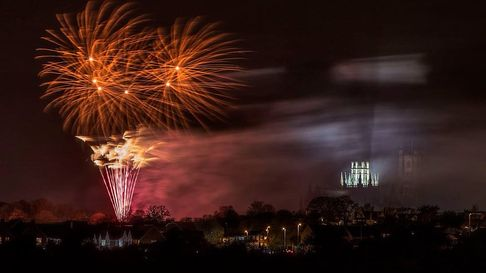 Truly spectacular fireworks in Ely - from three years ago - with the cathedral as a backdrop.