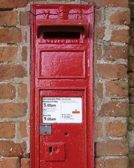 The post box in Hoe which has been stolen