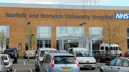 General view of the Norfolk and Norwich University Hospital at Colney.