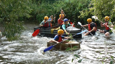 The Active Fakenham cardboard raft race final saw Sinker, Pewer and HMS Ducky compete for the crown.