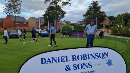 Players on the putting green at Colne Valley Golf Club
