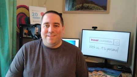 Martin Kindred-Langdon (pictured) from Ely, has launched his own travel franchise from home with Travel Counsellors