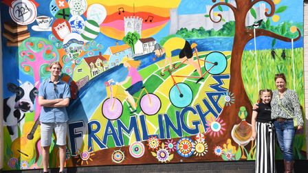 A colourful mural has been painted next to 221B in Framlingham