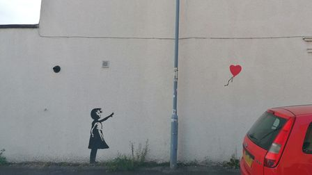 A Banksy recreation in Ipswich - but the creator remains anonymous