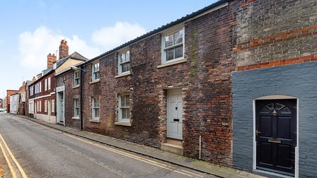 Historic terrace on Priory Lane in King's Lynn, west Norfolk, which is for sale