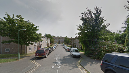 The fire broke out in a first floor flat in Cavendish Way, Sudbury