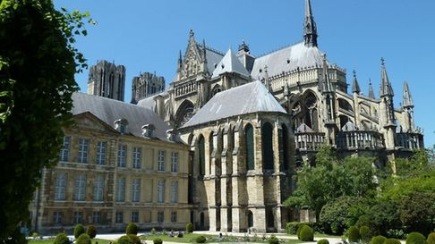 Reims Cathedral in all its glory. Pic: ADT Marne/Tourisme Champagne