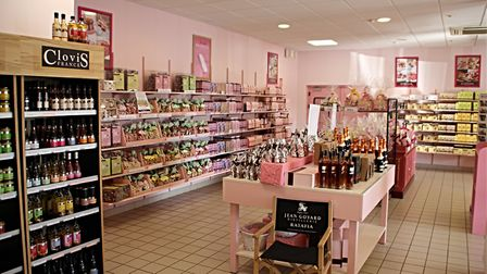 The pink biscuits factory shop. Pic: Hans Westbeek