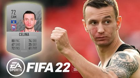Bersant Celina is Ipswich Town's highest-rated player on FIFA 22