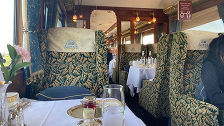 Alnwick carriage on the Northern Belle