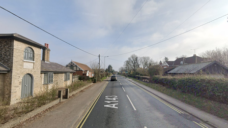 The crash occurred on the A143 in Great Barton