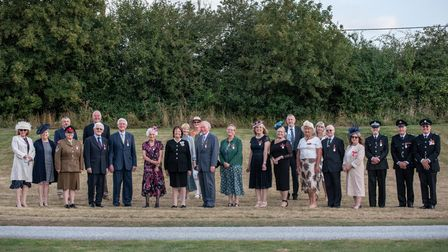 HM Lord Lieutenant of Suffolk with all receipients of medals and honours. Picture: Sarah Lucy Brow