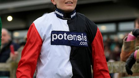 Jockey Victoria Pendleton after being unseated at Fakenham Racecourse. Photo: Nigel French/PA Wire