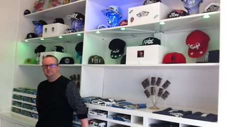 Shane Hunter has opened his first business, Hats Don't Sell, in the Charles Burrell Centre, in Thetf